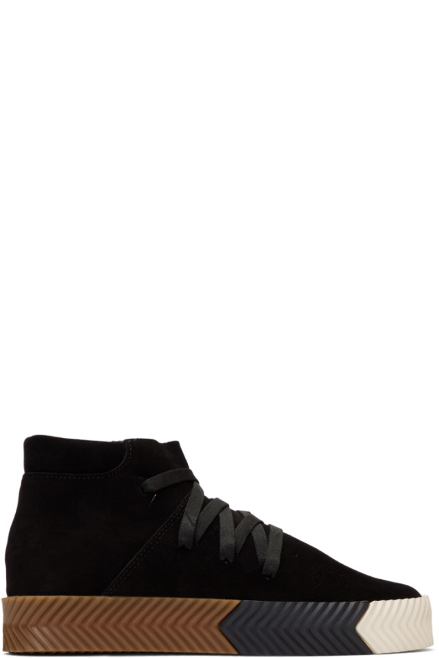 cheap for discount df462 fd9e8 adidas Originals by Alexander Wang Black AW Skate Mid Sneakers