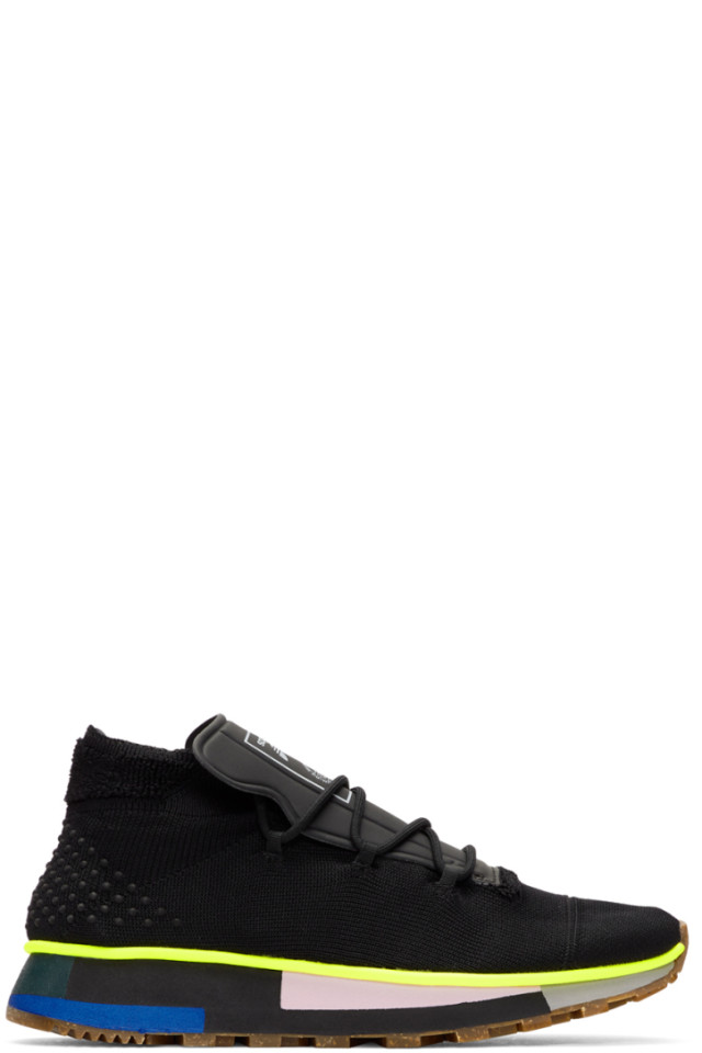 outlet store 7fe2b bb16e adidas Originals by Alexander Wang Black AW Run Mid Sneakers ...