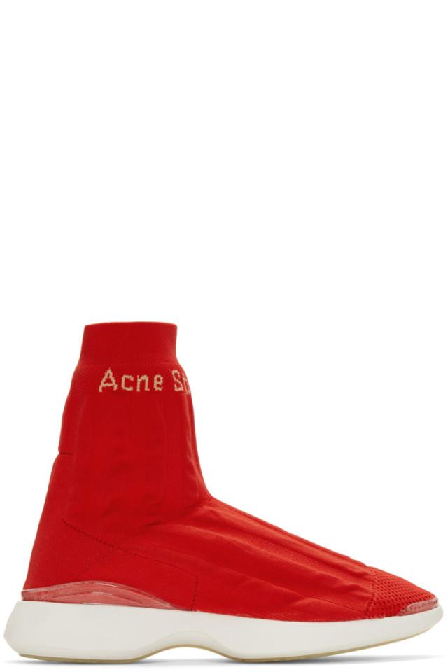 Orange Batilda Sock High-Top Sneakers Acne Studios