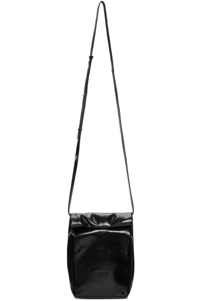 3a40fb26b9f7 Helmut Lang Black Foldover Crossbody Bag from SSENSE - Styhunt