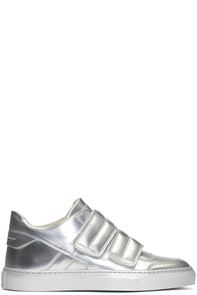 Mm6 Maison Martin Margiela Silver Mirror Sneakers From Ssense Styhunt