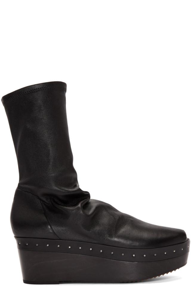 Rick Owens Black Ruggente Sock Boots