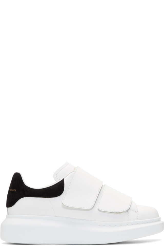 43fa786d3d65 Alexander McQueen White Oversized Strap Sneakers from SSENSE - Styhunt
