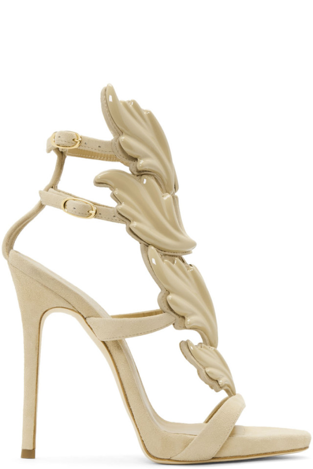 ecb0503c6938b ... Giuseppe Zanotti Beige Coline Wings Sandals great fit 5bf2d cad78 ...
