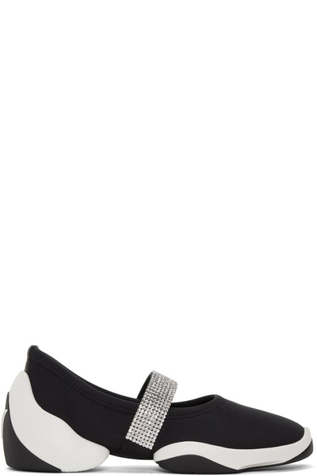 Black Crystal Band Light Jump Sneakers Giuseppe Zanotti
