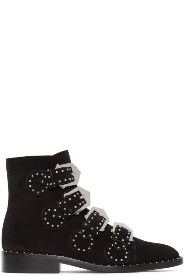 Black Elegant Line Boots Givenchy