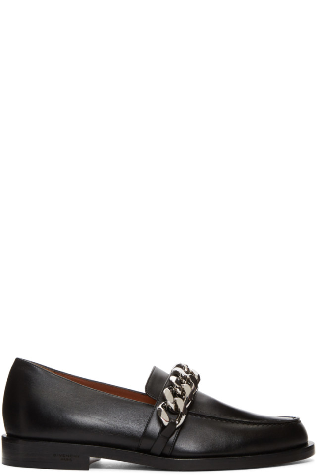 Black Chain Line Loafers Givenchy