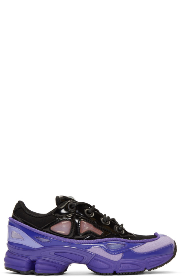 great look on sale pretty cool Raf Simons Purple & Black adidas Originals Edition Ozweego ...