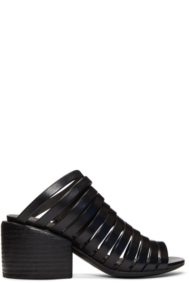 Marsèll Black Multi Strap Sandals