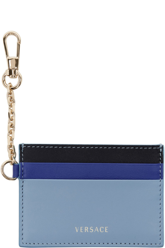 f8a156b0fcf Versace Tricolor Chain Card Holder from SSENSE - Styhunt