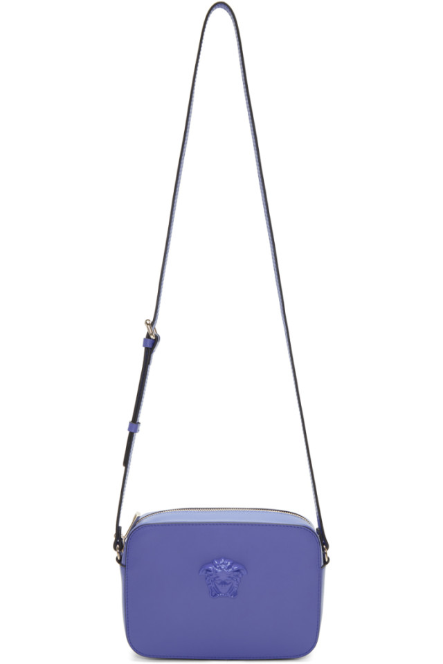 a9a2201530 Versace Blue Medusa Camera Bag from SSENSE - Styhunt