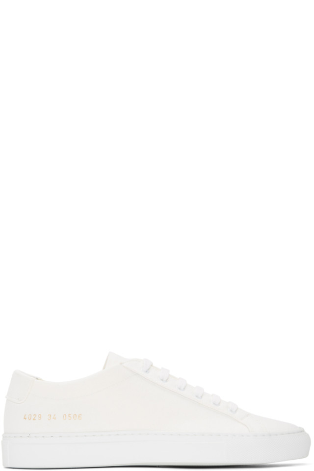 186da70c26b9 Woman by Common Projects White Canvas Achilles Low Sneakers from ...