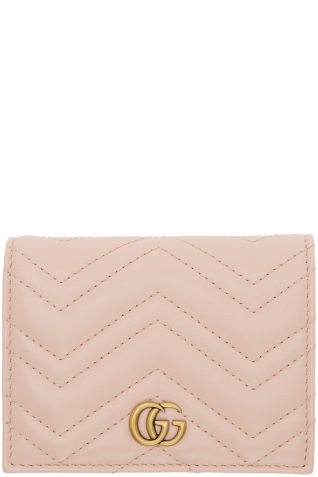 1193c18a79264e Gucci Pink Small GG Marmont Wallet from SSENSE - Styhunt