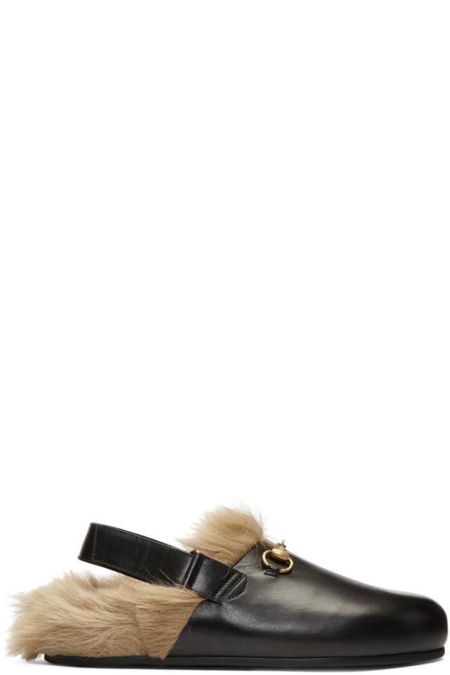 f9977d5f65be Gucci Black Horsebit River Slippers from SSENSE - Styhunt