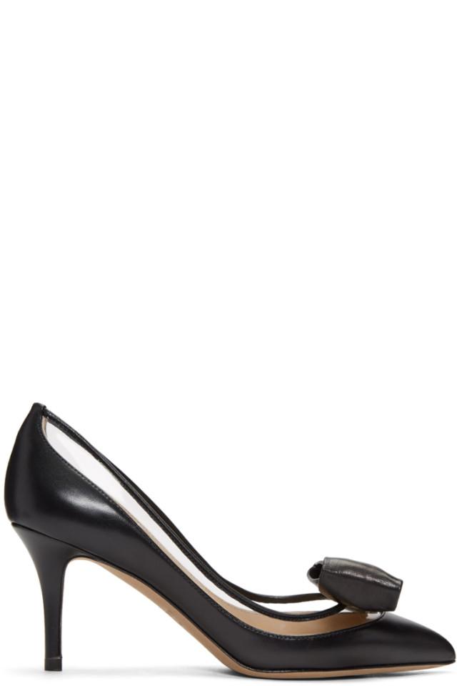 Valentino Black Valentino Garavani Glass Glow Heels
