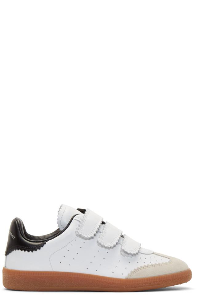 White Beth Vintage Velcro Sneakers Isabel Marant