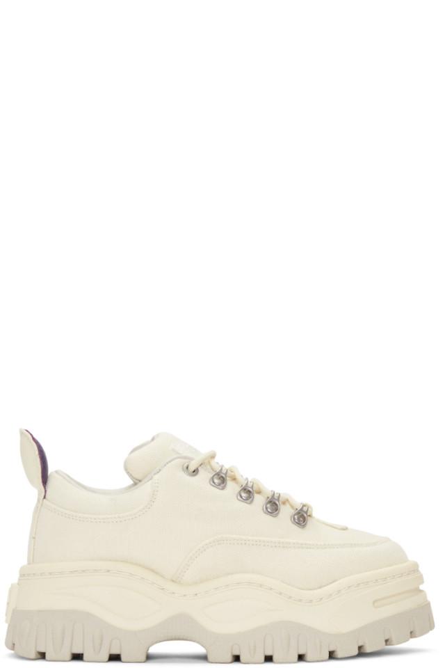 Eytys Ecru Canvas Angel Hiking Sneakers
