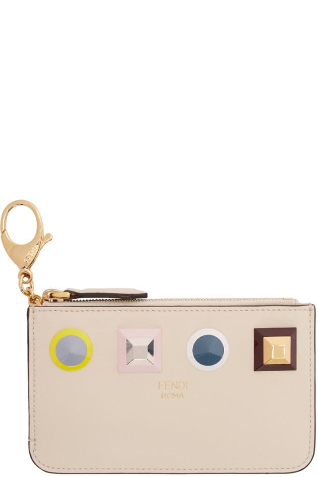 5315141e3e40 Fendi Beige Rainbow Zip Card Holder from SSENSE - Styhunt