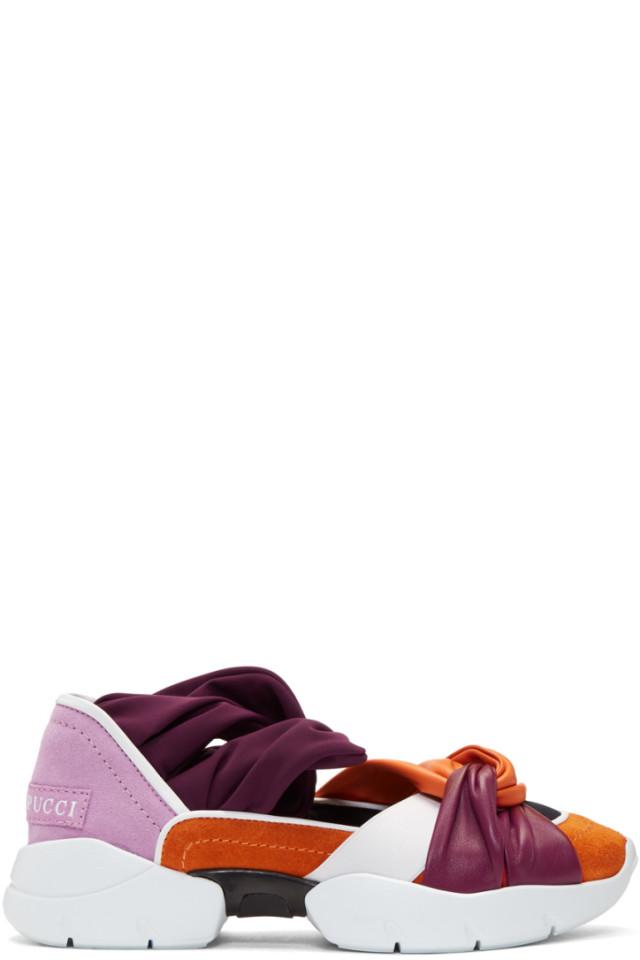 58ad2a3a7 Emilio Pucci Orange   Purple City Ballerina Sneakers