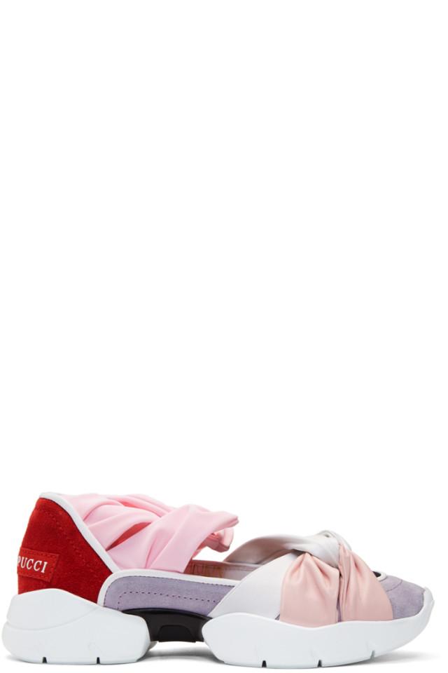 4a7f1fb0b Emilio Pucci SSENSE Exclusive Purple   Red City Ballerina Sneakers