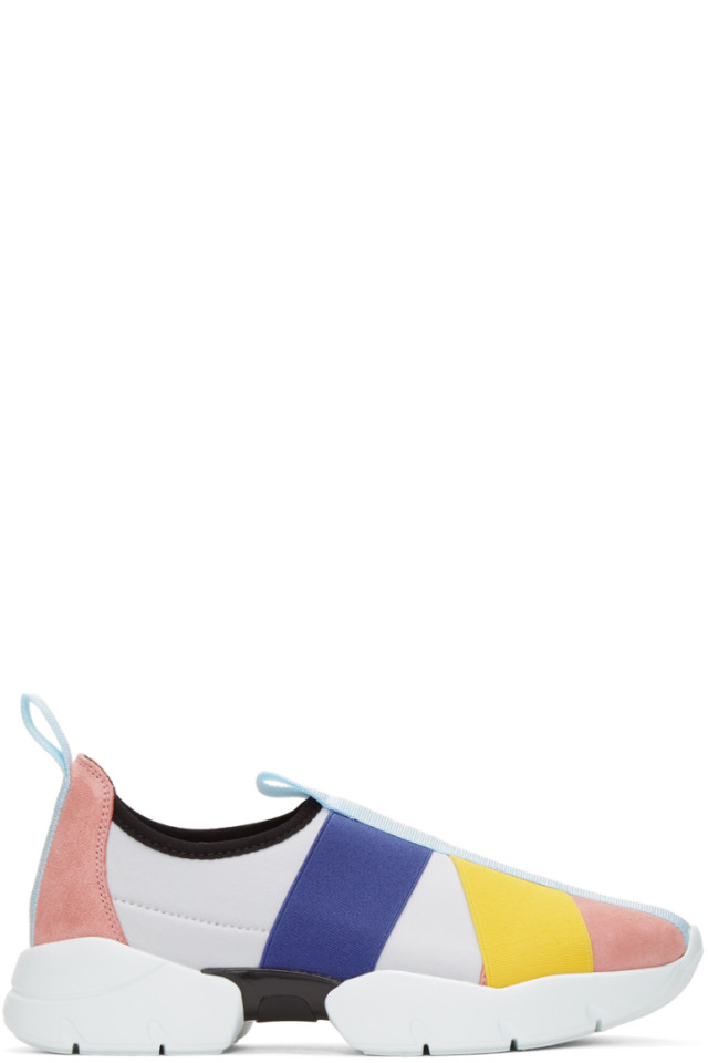 Pink and White City Up Elastic Sneakers Emilio Pucci