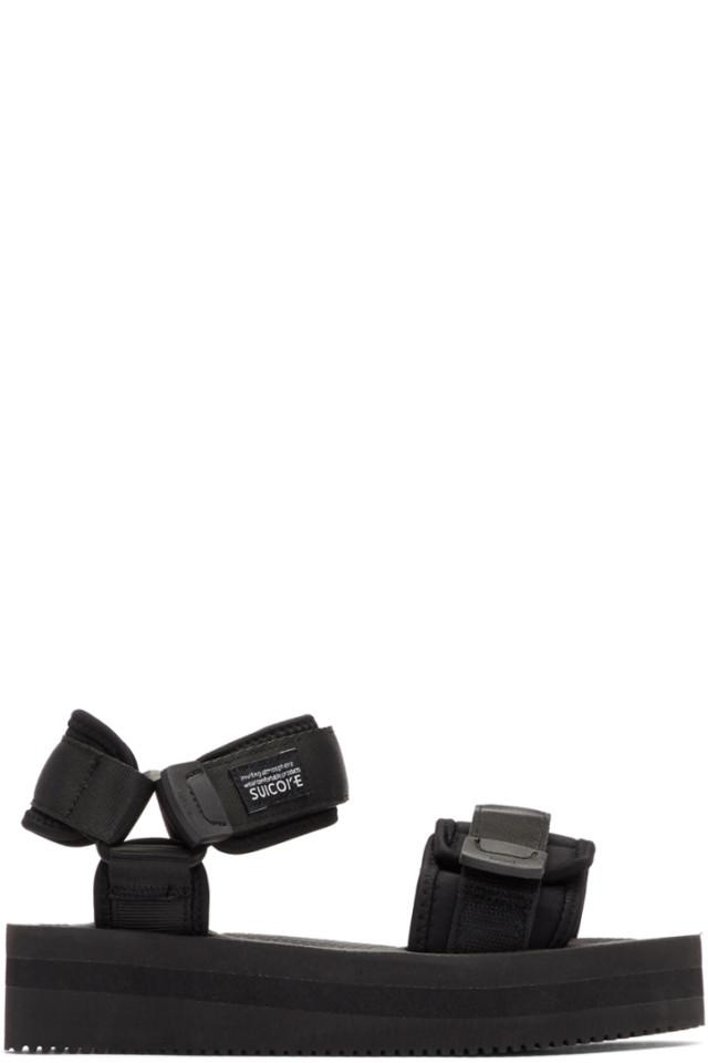 22acae652a7a Suicoke Black CEL VPO Sandals from SSENSE - Styhunt