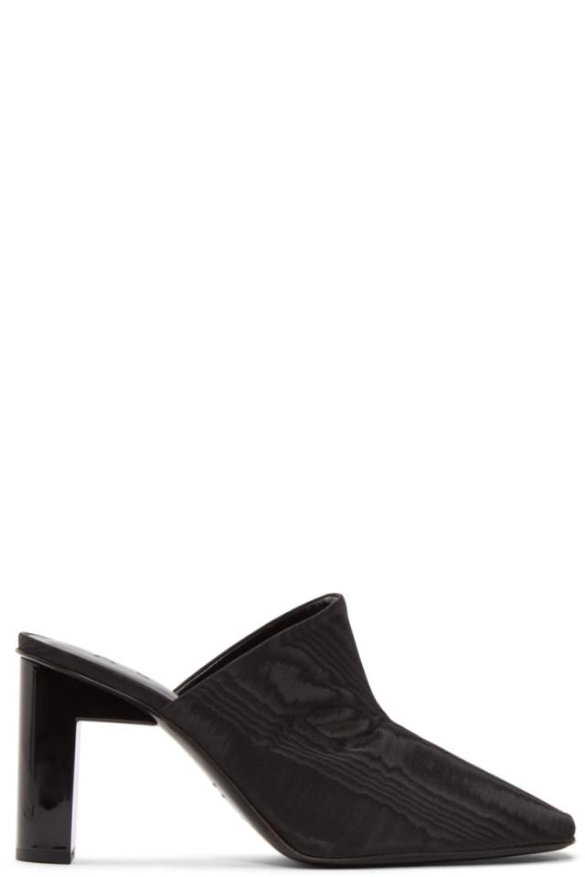 Alyx Black Olga Anklet Heels