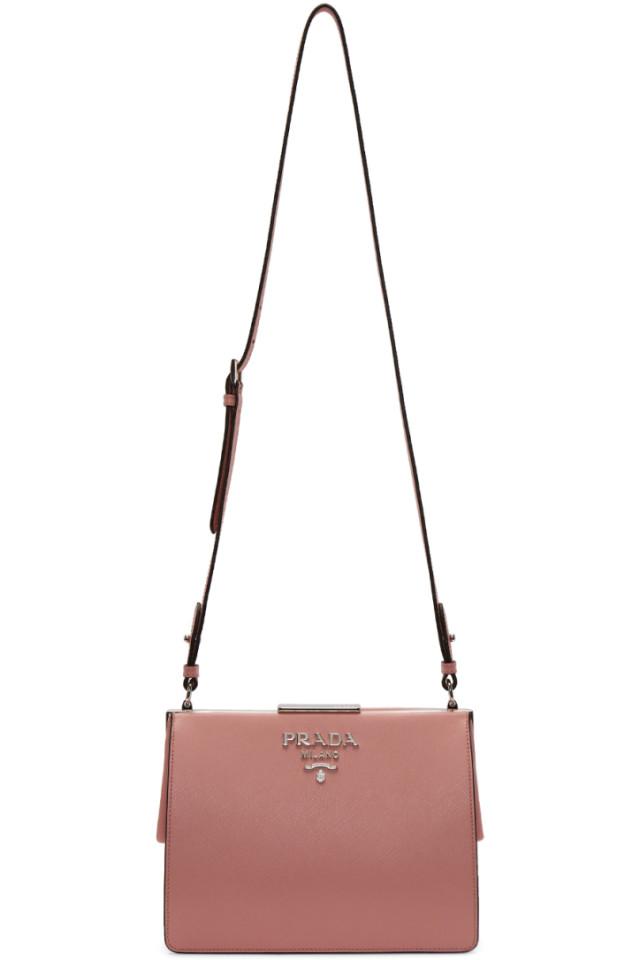 2223c37d11ef Prada Pink Frame Bag from SSENSE - Styhunt