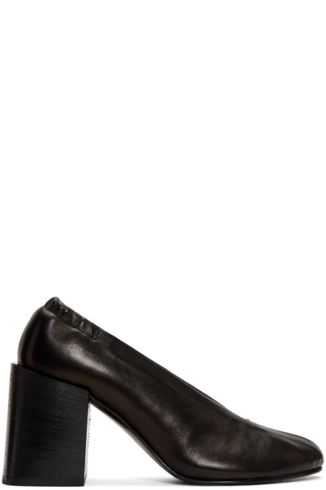 5a82832da05 Acne Studios Black Offset Kitten Heel Mules from SSENSE - Styhunt