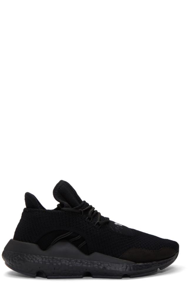 Y-3 Black Saikou Boost Sneakers from