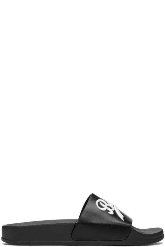 44c619a5 Balmain Black Calypso Slides from SSENSE - Styhunt