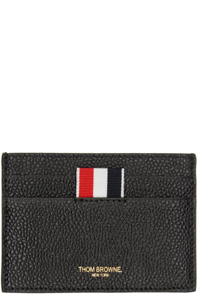 daaa5ad5e25b Prada Black Saffiano Logo Wallet $390. Thom Browne Black Single Card Holder