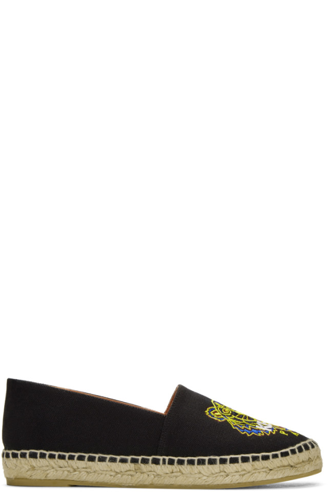 d361fed9c Kenzo Black Canvas Classic Tiger Espadrilles from SSENSE - Styhunt