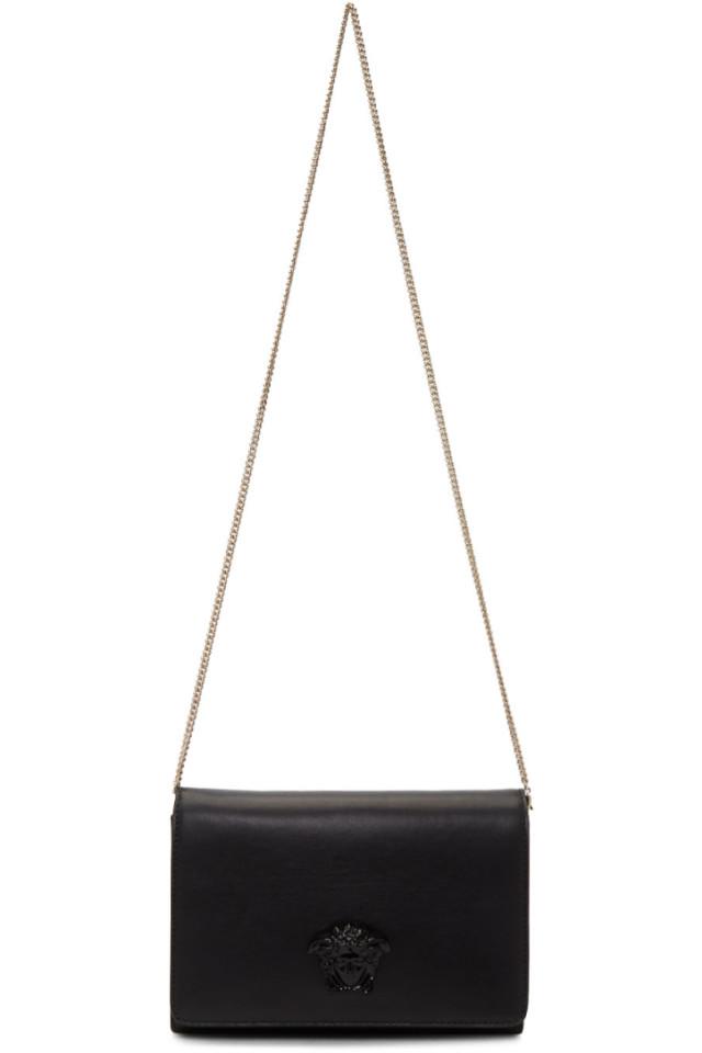 3943173e0bd9 Versace Black Tonal Medusa Clutch Bag from SSENSE - Styhunt
