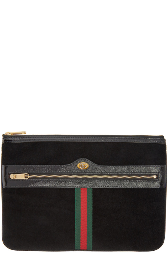 0f8cac6e6 Gucci Black Ophidia Pouch from SSENSE - Styhunt