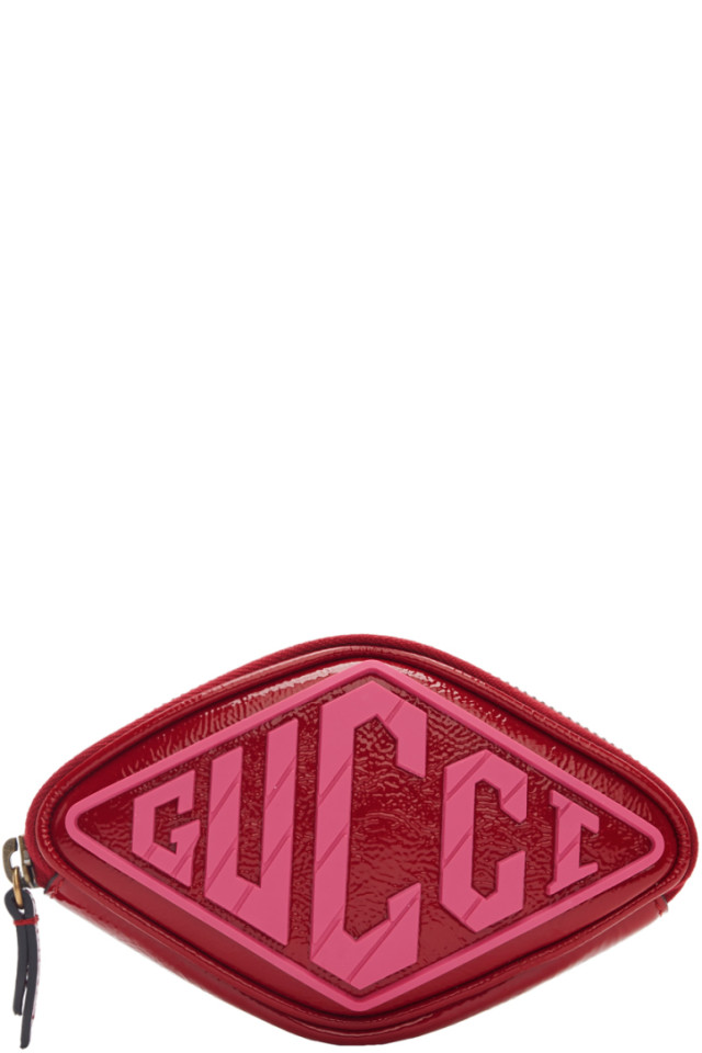 3e3561ab45a Gucci Red Patent Small Logo Wrist Pouch from SSENSE - Styhunt