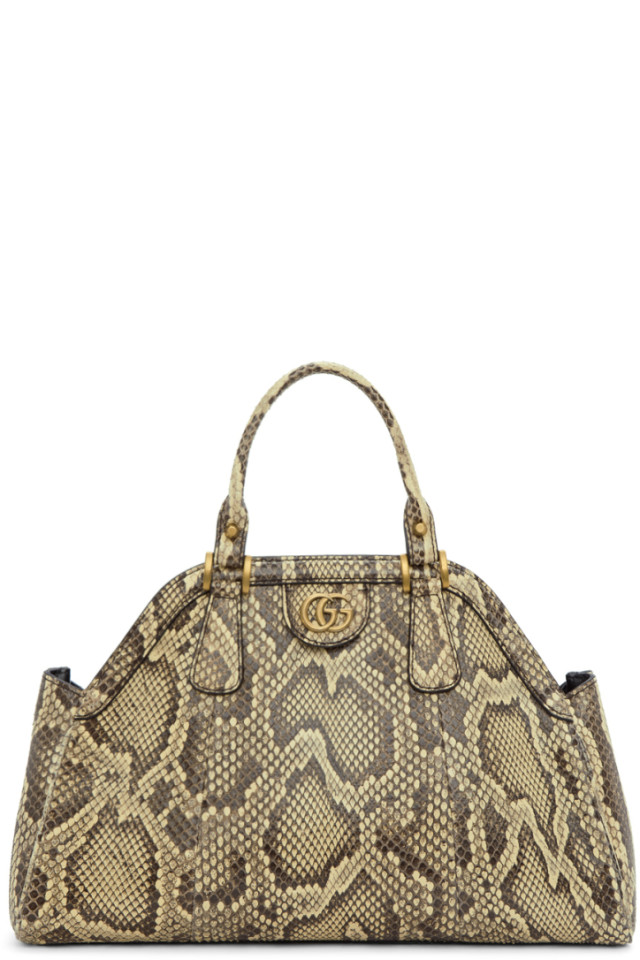 dce38830c29e Gucci Beige Snake Small Top Handle Bag