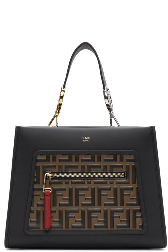 Fendi Black Small Forever Fendi Runaway Bag from SSENSE - Styhunt 9b54b81dd5f7a