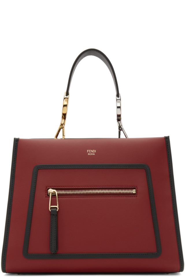 3ea5c948a587 Fendi Red Small Runaway Tote Bag from SSENSE - Styhunt