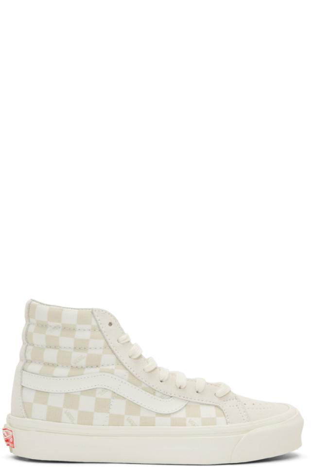 653ba9dc90 Vans Beige   Off-White OG Sk8-Hi LX Sneakers from SSENSE - Styhunt