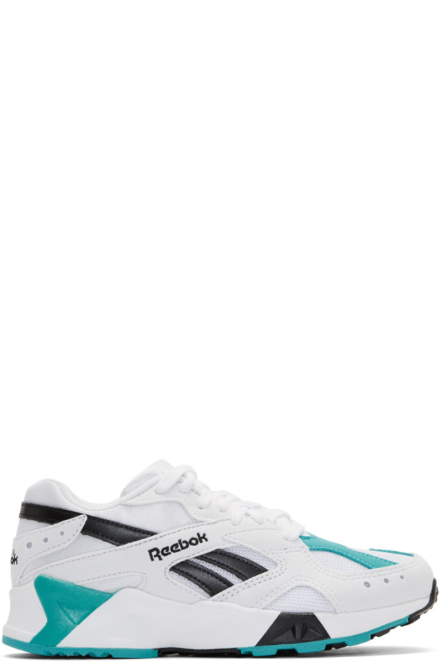 Reebok Classics White   Green Aztrek Sneakers from SSENSE - Styhunt efe73553a