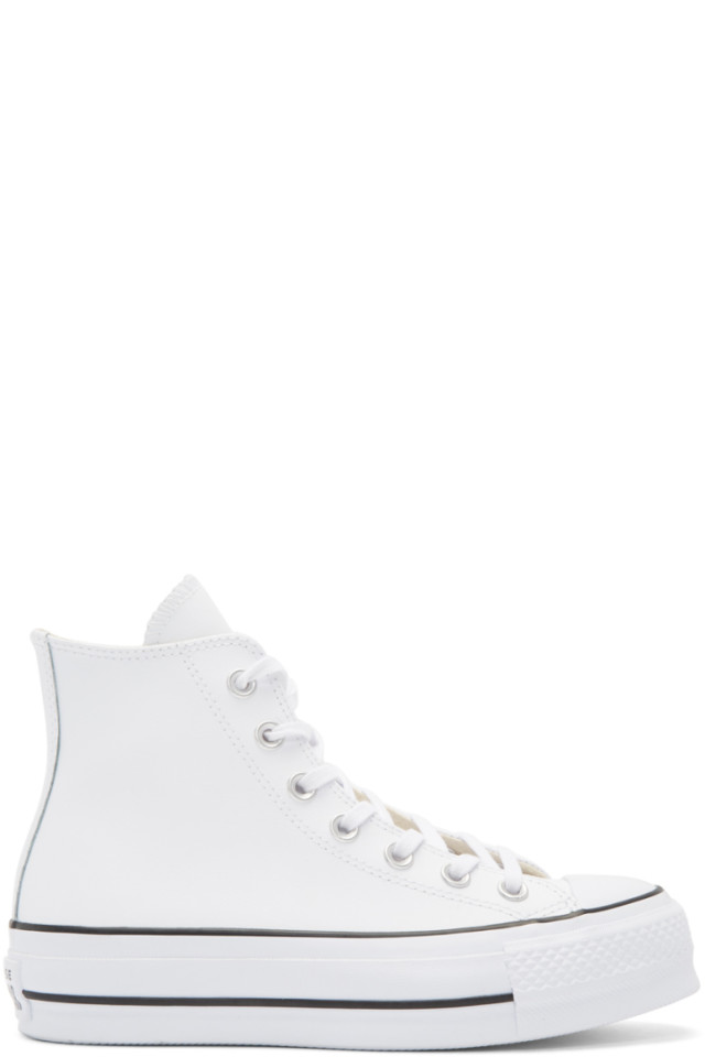 Converse Converse White Chuck Taylor All Star Lift High Top Sneakers from SSENSE | ShapeShop