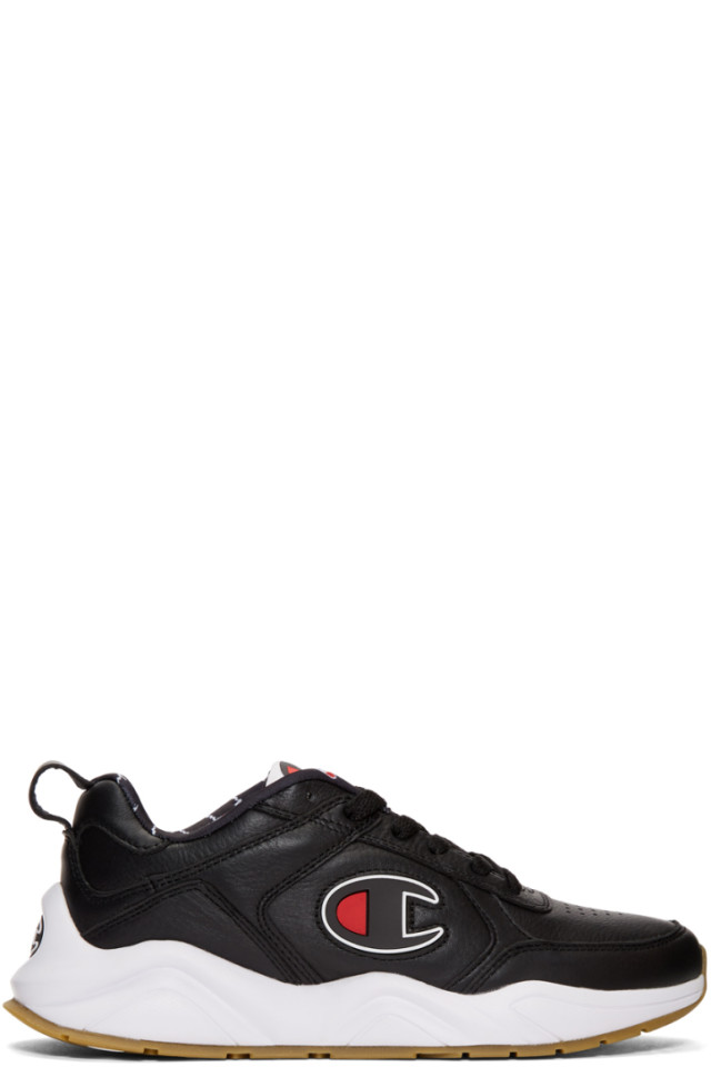 571dfb698af Champion Reverse Weave Black 93EIGHTEEN Big C Sneakers from SSENSE ...