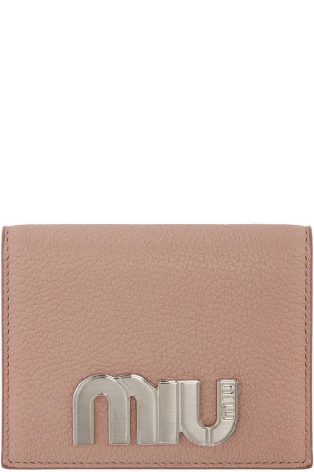 403cf3089a05 Prada Pink Logo Foldover Wallet from SSENSE - Styhunt