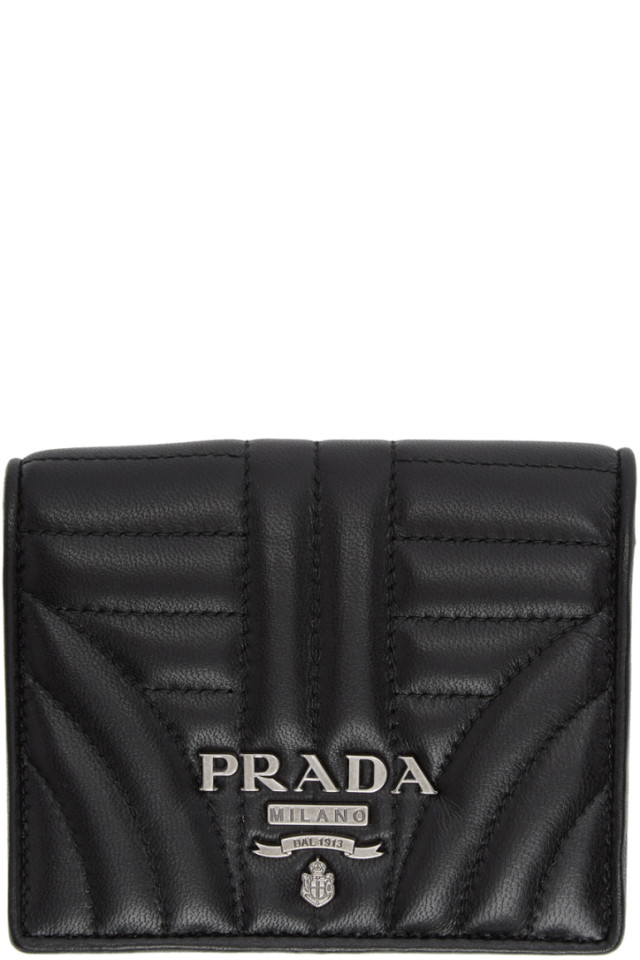 05d72037d924 Prada Black Quilted French Wallet from SSENSE - Styhunt