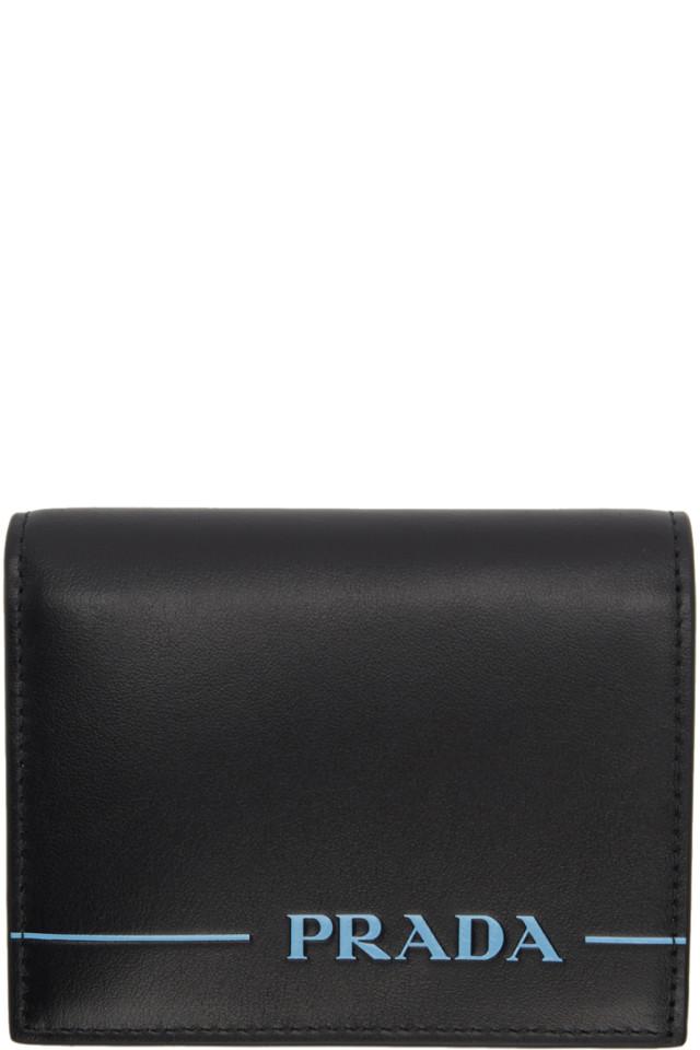 7a98085ffc26 Prada Black Saffiano Lipstick French Wallet from SSENSE - Styhunt
