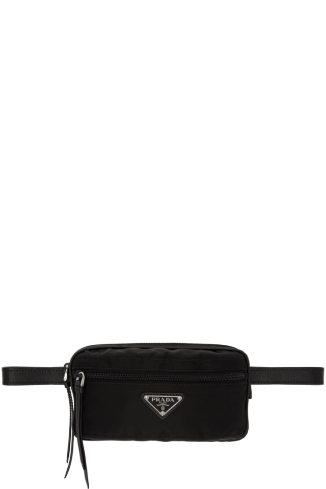 acbb690d859f Prada Black Rectangular Belt Pouch from SSENSE - Styhunt