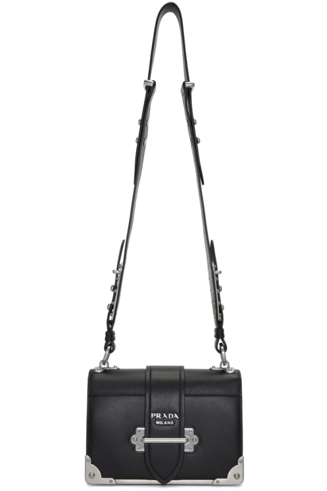 19f1925edbf3 Prada Black Cahier Bag from SSENSE - Styhunt