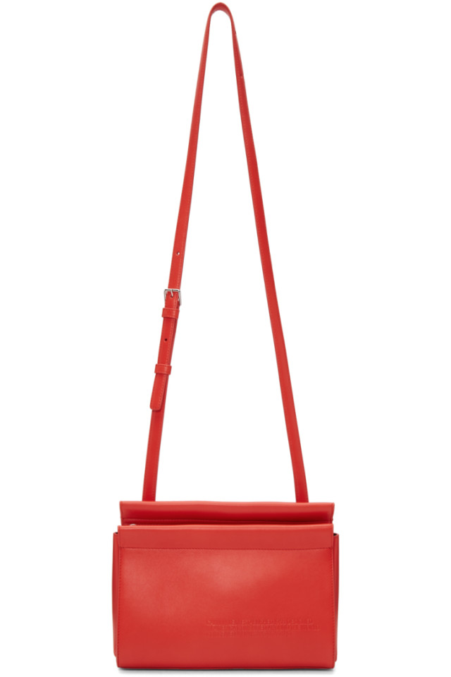 Calvin Klein 205W39NYC Red Top Zip Cross Body Bag from SSENSE - Styhunt a70d69b8a2444