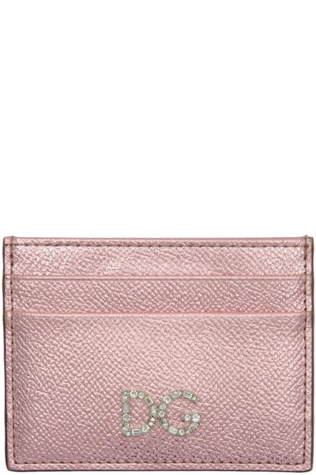4d7f9d25b807 Miu Miu Pink Colorblock Big Logo Card Holder from SSENSE - Styhunt